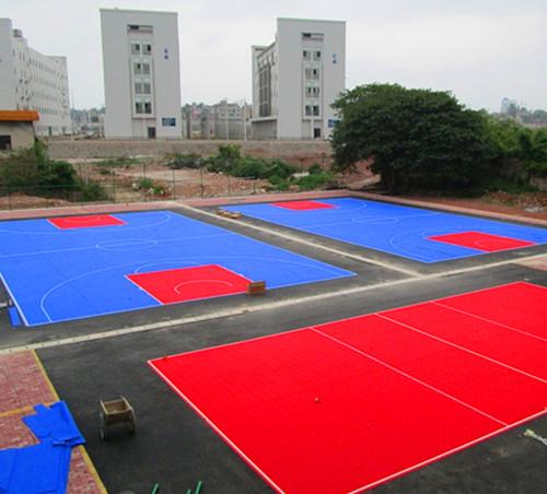 广西银行学校悬浮地板篮球场
