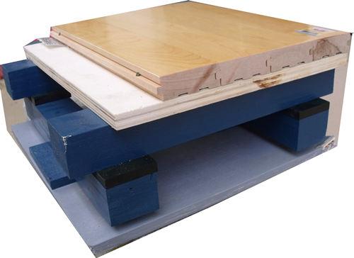 双层龙骨竞技比赛型木地板球场结构功能介绍