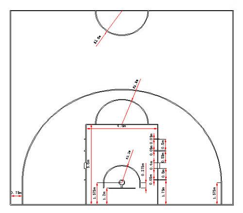 悬浮拼装地板篮球场网羽球场运动场施工方案供应详情        场地划线