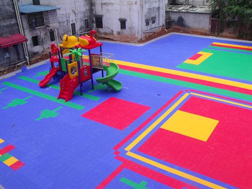 康怡幼儿园悬浮地板及游乐活动场建设完成