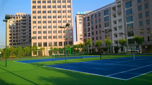 丙烯酸篮球场建设