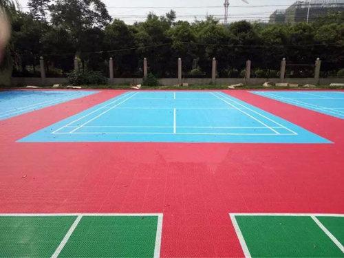 江门塑胶篮球场