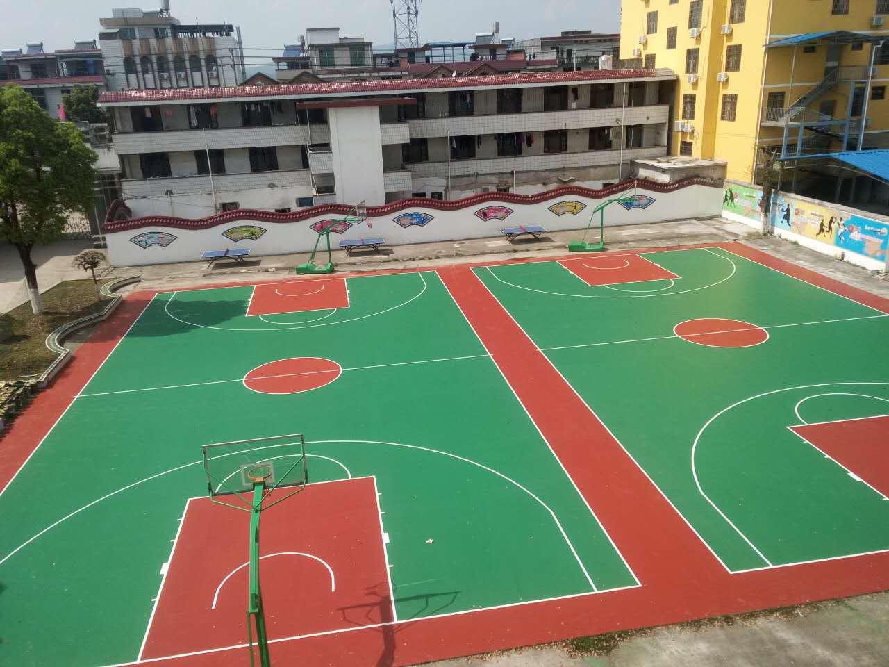 池江: 江西池江中学环保净味硅PU篮球场完成建设-奥宏体育