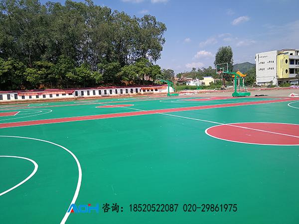 塑胶篮球场施工建设