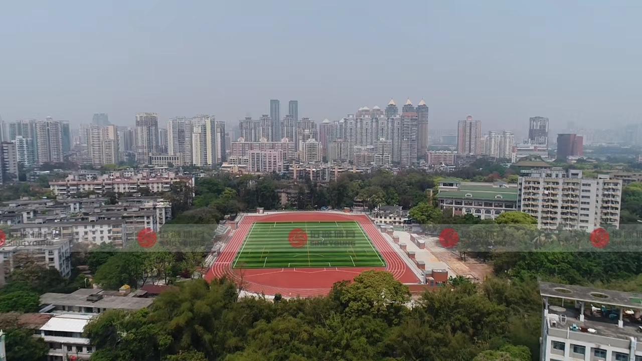 惠州博罗县纯水性丙烯酸篮球场顺利完工