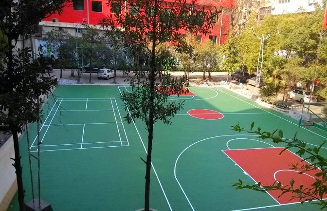 广xi硅PU篮球场